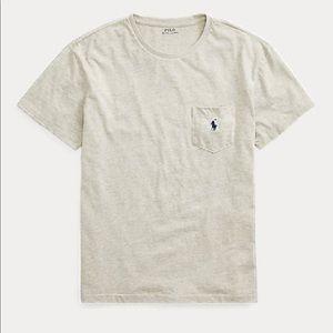 Men's Polo Ralph Lauren gray pocket tee